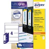 Avery Filing Labels L7171-10, 60 x 200 mm 10 Sheets of 4 Labels