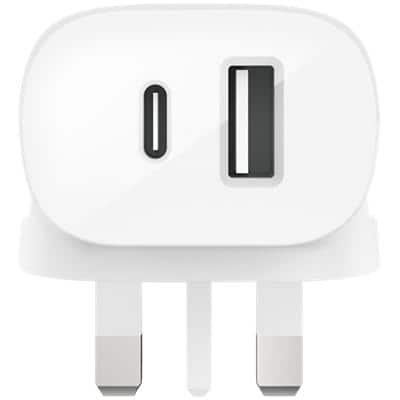 Belkin Standalone Wall Charger USB-C, USB-A Indoor White