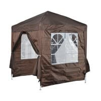 OutSunny Pop Up Gazebo Outdoors Water proof Coffee 2000 mm x 2000 mm x 2450 mm