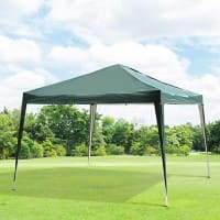 OutSunny 3X3M Pop Up Gazebo Outdoors Water proof Green, White 3000 mm x 3000 mm