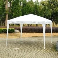 OutSunny 3X3M Pop Up Gazebo Outdoors Water proof White 3000 mm x 3000 mm