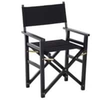 HOMCOM Folding Chair Black Beech, Oxford Fabric 833-458BK