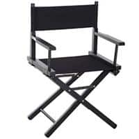 HOMCOM Folding Chair Black Beech, Oxford Fabric 833-459BK