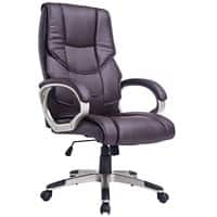HOMCOM Office Chair Brown PU Leather 5550-3300BR