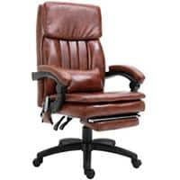 Vinsetto Office Chair Brown PVC Leather, PU Leather, Metal 921-341V70