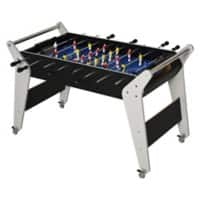 HOMCOM 4.8ft Indoor MDF Football Table Black/Silver