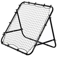 HOMCOM Adults Football Training Aid Multi-Sports Practice W/PE Mesh Metal Tube, 108W x 100D x 65Hcm-Black