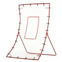 HOMCOM Steel Frame Adjustable 5-Angle Rebounder Goal Red/White