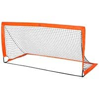 HOMCOM Tenoroon Mesh Outdoor Folding Football Goal Orange