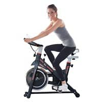 HOMCOM Belt-Driven Exercise Bike with LCD Display-Black