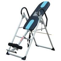 HOMCOM Fitness Gravity Inversion Exercise Bench-Silver