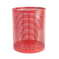 Foray Waste Bin Mesh Red Metal 24 x 29 cm
