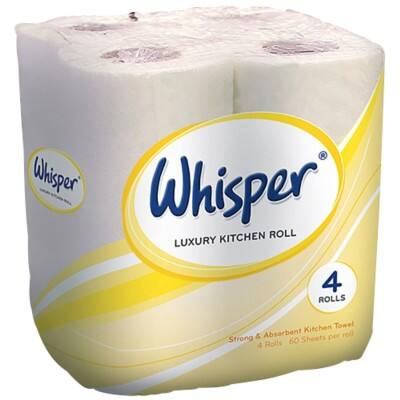 Whisper Kitchen Roll 2 Ply 24 Rolls of 60 Sheets
