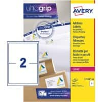 Avery L7168-100 Parcel Labels Self Adhesive 199.6 x 143.5 mm White 100 Sheets of 2 Labels