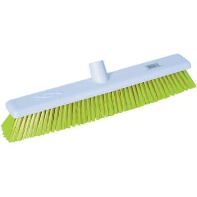 Robert Scott Broom Head Stiff Bristles Yellow 450 mm