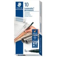 STAEDTLER Lumocolor OHP Marker Medium Round Black Pack of 10