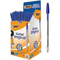 BIC Cristal Original Ballpoint Pen Medium 0.4 mm Blue Pack of 50
