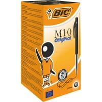 BIC M10 Original Retractable Ballpoint Pen Medium 0.4 mm Black Pack of 50