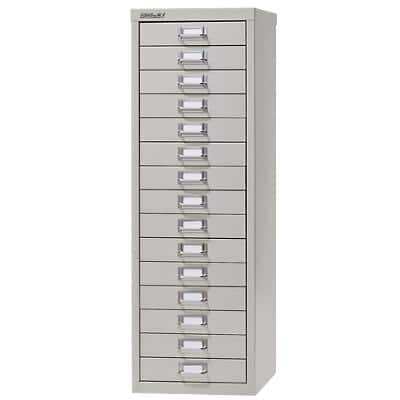 Bisley Filing Cabinet with 15 Drawers H3915NL 280 x 380 x 860mm Grey