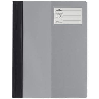 DURABLE Folder Premium Clear-View A4 Grey Plastic