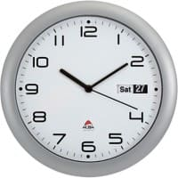 Alba Analog Wall Clock HORDAY2 UK 30 x 5.5cm Silver Grey