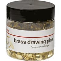 Office Depot Drawing Pins Brass 10.5mm Pack of 750