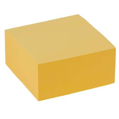 Office Depot Sticky Note Cube 76 x 76 mm Pastel Yellow 400 Sheets