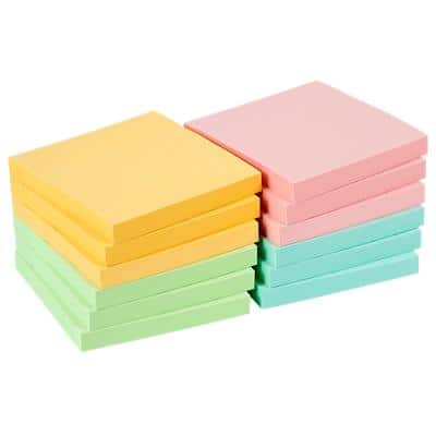 Office Depot Sticky Notes 76 x 76 mm Assorted 12 Pads of 100 Sheets