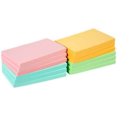 Office Depot Sticky Notes 127 x 76 mm Assorted 12 Pads of 100 Sheets