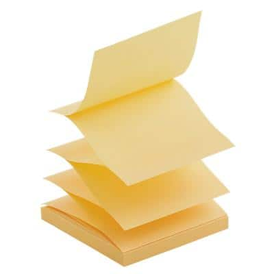 Office Depot Z-Notes 76 x 76 mm Yellow 6 Pads of 100 Sheets