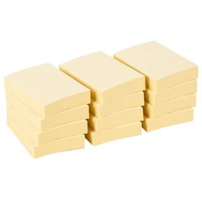 Office Depot Sticky Notes 38 x 50 mm Pastel Yellow 12 Pieces of 100 Sheets