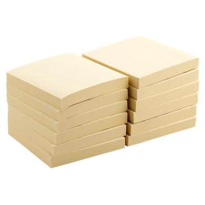 Office Depot Sticky Notes 76 x 76 mm Pastel Yellow 12 Pieces of 100 Sheets