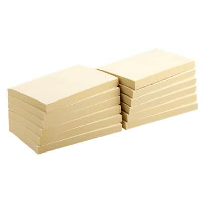 Office Depot Recycled Sticky Notes 127 x 76 mm Yellow 12 Pads of 100 Sheets