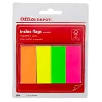 Office Depot Index Flags 20 x 50 mm Assorted 50 x 4 Pack