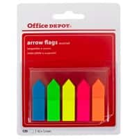 Office Depot Index Flags Arrows Assorted Plain Not perforated 12 x 45 mm 25 Strips Pack of 5