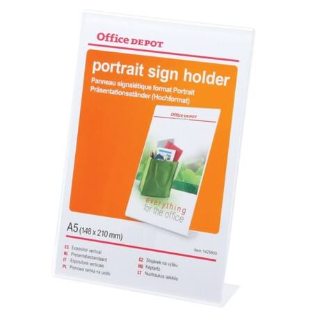 Office Depot A5 Angled Sign Holder