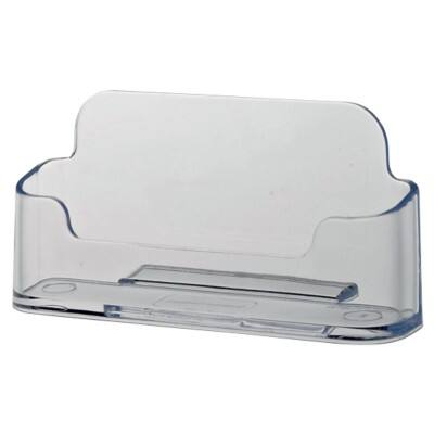 Office Depot Business Card Holder Standard Plastic Transparent 5 x 9.7 x 3.5 cm