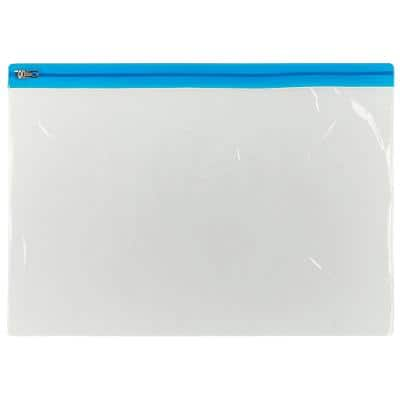 Office Depot Zip Bag A4 Blue Polypropylene 29.7 x 33.8 x 24 cm 5 Pieces