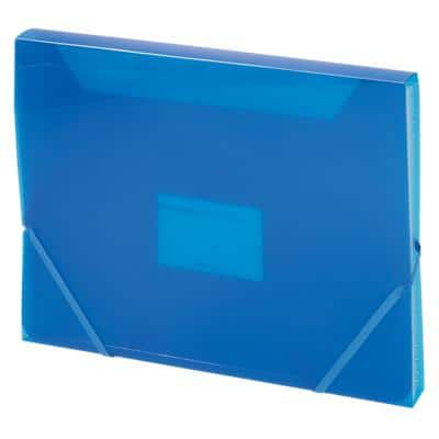 Office Depot Expanding File 6 Compartments A4 Blue Plastic