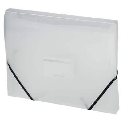 Office Depot Expanding File 6 Compartments A4 Transparent Plastic