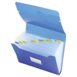 Office Depot Expanding Files - 13 Part - Blue