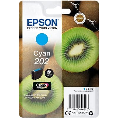 Epson T02F2 Original Ink Cartridge C13T02F24010 Cyan