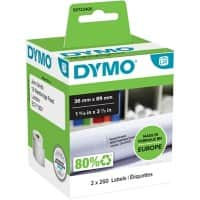 DYMO LW Address Labels 99012 Black on White Self Adhesive 36 mm x 89 mm 260 Labels