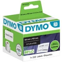 DYMO LW S0722430 Shipping/Name Badge Labels, Authentic, Self Adhesive, White 54 mm x 101 mm, 220 Labels