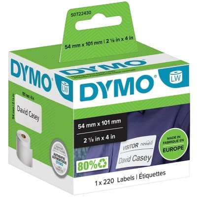 DYMO Address Labels 99014 54 x 101 mm White 220 Labels