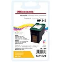 Office Depot Compatible HP 343 Ink Cartridge C8766EE 3 Colours