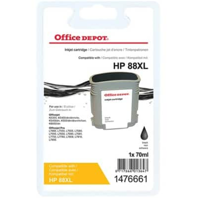 Office Depot Compatible HP 88XL Ink Cartridge C9396A Black
