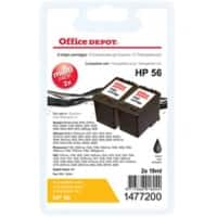 Office Depot Compatible HP 56 Ink Cartridge C9502AE Black 2 Pieces