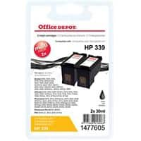 Office Depot Compatible HP 339 Ink Cartridge C8767E Black Pack of 2