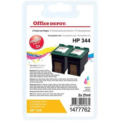 Office Depot Compatible HP 344 Ink Cartridge C9505EE 3 Colours Pack of 2